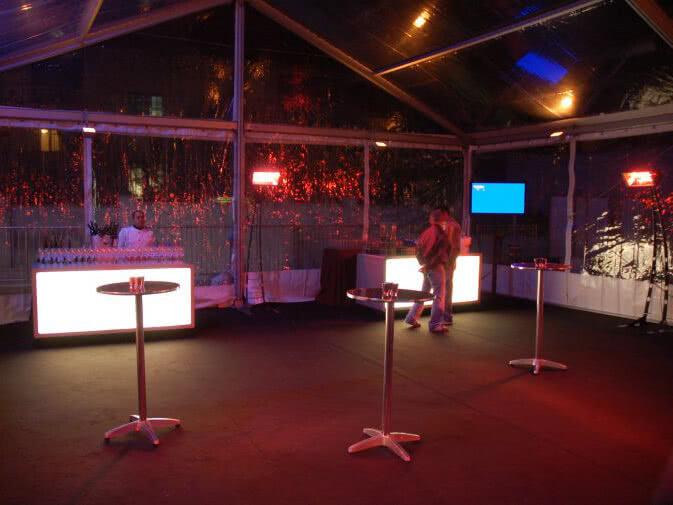 Noleggio lampada riscaldante a infrarossi per eventi noleggiodesign