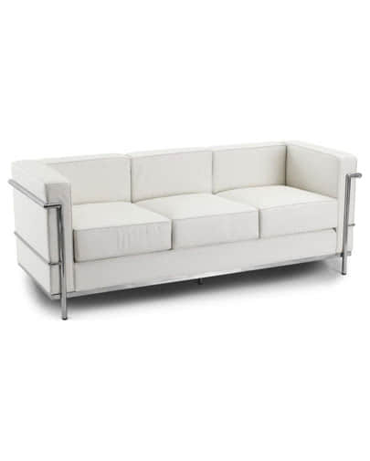 Noleggio divano in ecopelle a 3 posti per eventi eleganti noleggiodesign - Divano tre posti ecopelle ...