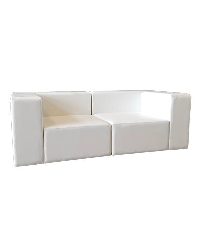 divano modulare a due posti a noleggio