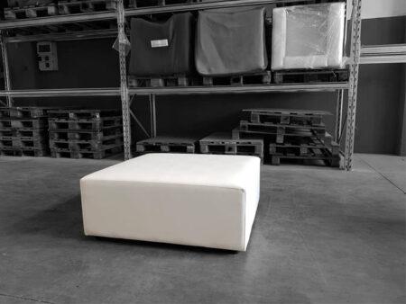 Noleggio pouf modulare in ecopelle bianca ignifugo - NoleggioDesign