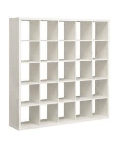 noleggio libreria in legno laminato bianco