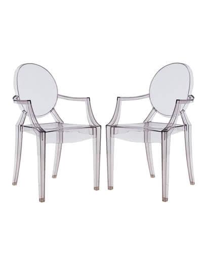 Noleggio sedia louis ghost trasparente di kartell for Sedie design kartell