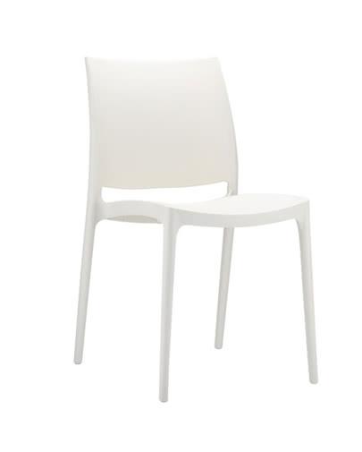 noleggio sedia maya bianca