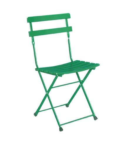 Sedie In Ferro Pieghevoli.Noleggio Sedia Pieghevole Verde In Ferro Noleggiodesign
