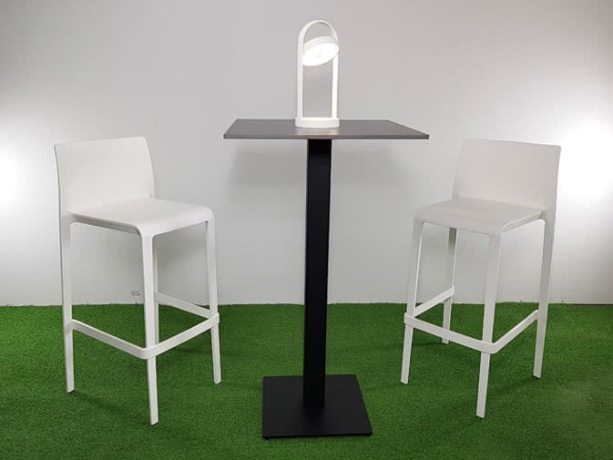 Noleggio tavolo alto quadrato nero per eventi noleggiodesign
