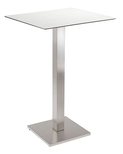 Noleggio tavolo alto quadrato bianco per eventi - NoleggioDesign