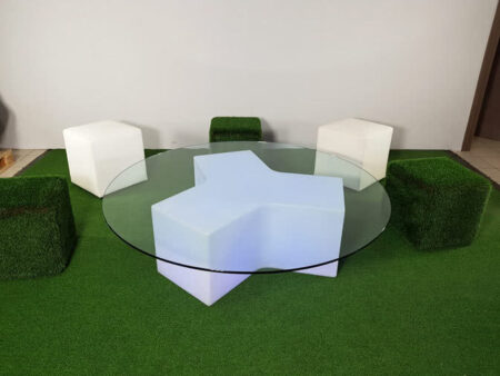 Tavolo basso rotondo componibile