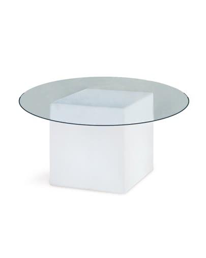 Noleggio tavolo base luminosa rotondo di slide - Base per tavolo cristallo ...
